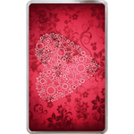 Kindle Fire Cases Valentine hearts on floral Hard Cover Case for Kindle Fire