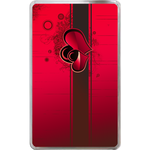 Kindle Fire Cases Valentine red heart Hard Cover Case for Kindle Fire
