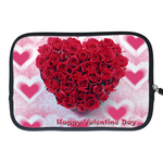 Kindle Fire Sleeve happy Valentine's day roses Two Sides Sleeve for Kindle Fire