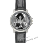 Black Leather Watch popular woman Black Leather Alloy High-grade Watch