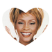 Love Whitney Houston heart-shape Rubber Coaster Custom Heart Coasters