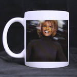 Smiling Whitney Houston Classic Mug Custom White Mug