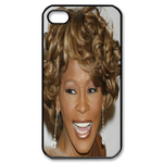 Attractive Whitney Houston Custom Custom Case for iPhone 4,4S