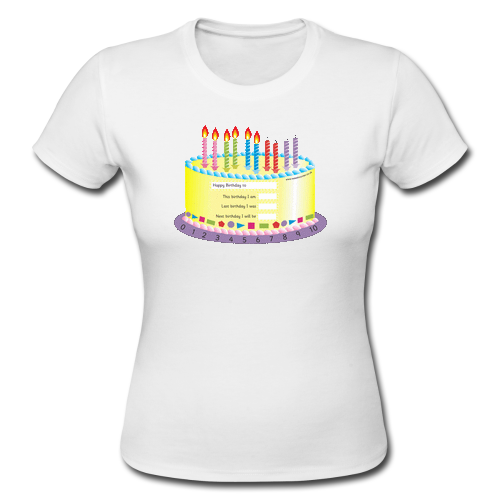 Birthday cake custom gildan lady t shirt custom gildan for T shirt cake decoration