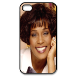 Charming Whitney Houston Custom Custom Case for iPhone 4,4S