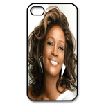 Elegant Whitney Houston Custom Custom Case for iPhone 4,4S