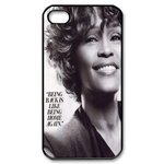 Famous Whitney Houston Custom Custom Case for iPhone 4,4S