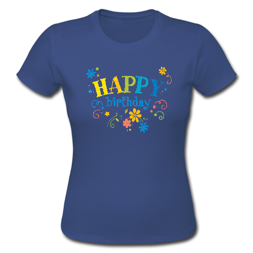 Happy Birthday Gift Custom Gildan Lady T Shirt Custom