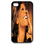 Laughing Whitney Houston Custom Custom Case for iPhone 4,4S
