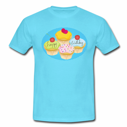 Happy Birthday Cakes Custom Gildan Men T Shirt Men S
