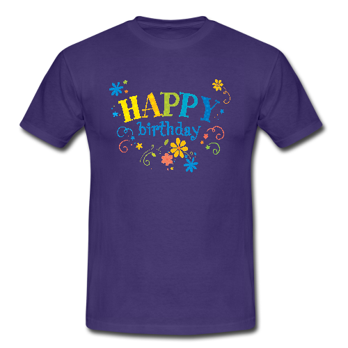 Happy Birthday Print Custom Classic Men T Shirt Men 39 S