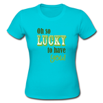 Happy St.patrick's Day Luck Custom Classic T-shirt Women's Girlie Shirt