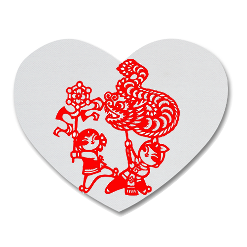 Chinese Cutting Paper Heart Shape Coaster Custom Heart Coasters