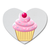 Cute Cupcake Heart-shape Coaster Custom Heart Coasters