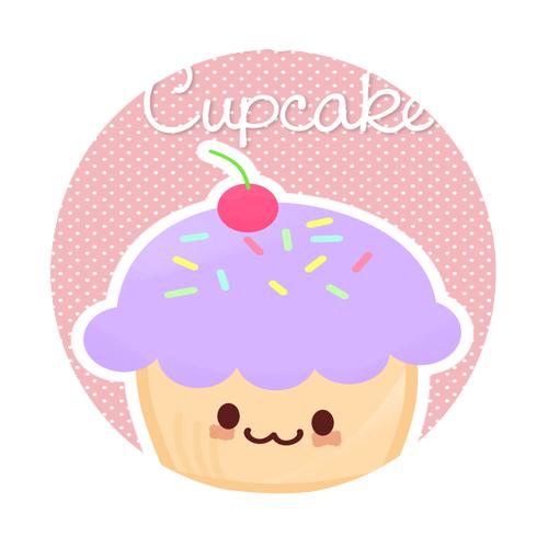 Cute Cupecake Round Rubber Coaster Custom Round Coasters