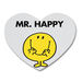 Mr Happy Heart Shape Coaster Custom Heart Coasters