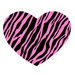 Pink and Black Stripes Heart Shape Coaster Custom Heart Coasters