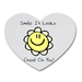 Smile it looks good on you Heart Shape Coaster Custom Heart Coasters
