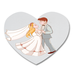 Wedding Party Heart Shape Rubber Coaster Custom Heart Coasters