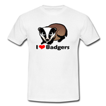 Honey Badger  I Heart Custom Classic Men T-shirt Men's classic white t-shirt Model T12