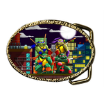 Oval Belt Buckle ready to fight Custom Belt Buckle