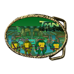 Oval Belt Buckle turtles poster Custom Belt Buckle