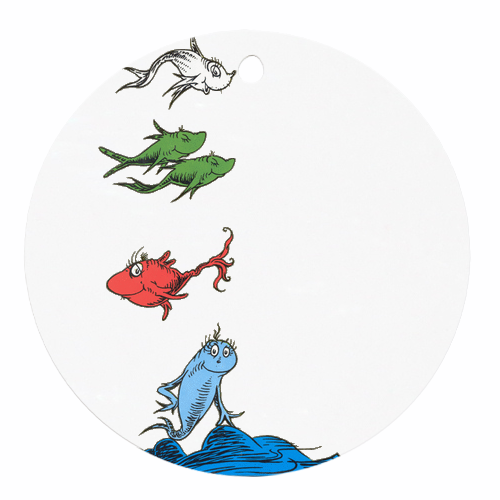 One fish two fish dr seuss round ornament round ornament for One fish two fish