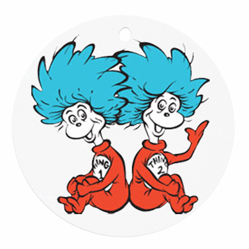 Thing 1 and thing 2 clip art thing 1 thing 2 round ornament