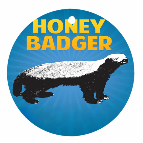 Honey badger round ornament round ornament two sides for Badger christmas decoration