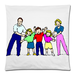 "A Big Family Square Pillow Case Custom Pillow Case 18""x18"" (one side)"