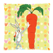 "Cute bunny and carrot pillow cases Custom Pillow Case 18""x18"" (one side)"