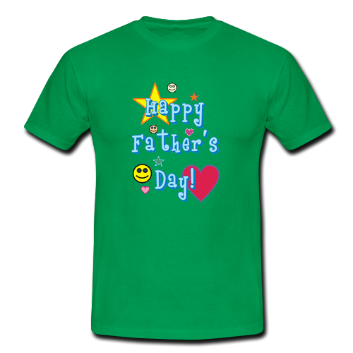 Happy father day green custom gildan t shirt men 39 s custom for Custom t shirts one day delivery