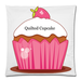 "Quilted Cupcake Square Pillow Case Custom Pillow Case 18""x18"" (one side)"
