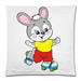"Skating Rabbit Pillow Case Custom Pillow Case 18""x18"" (one side)"