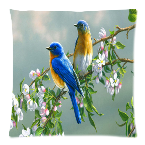 "Morning Birds Pillow Case Custom Pillow Case 18""x18"" (one side)"
