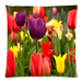 "Colorful Tulips Pillow Case Custom Pillow Case 18""x18""(two side)"