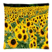 "Field of Sunflowers Pillow Case Custom Pillow Case 18""x18""(two side)"