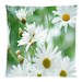 "White Daisy Pillow Case Custom Pillow Case 18""x18""(two side)"
