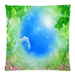 "Dreamful Sky Floral Pillow Case Custom Pillow Case 18""x18""(two side)"