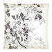 "Grey Floral Pillow Case Custom Pillow Case 18""x18""(two side)"