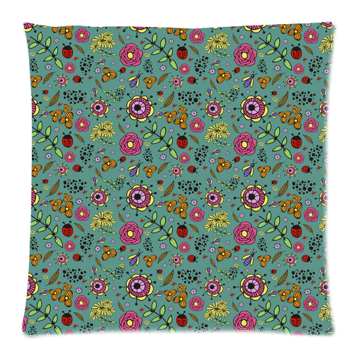 "Natural Floral Pillow Case Custom Pillow Case 18""x18""(two side)"