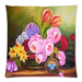 "Oil Painting Flowers Floral Pillow Case Custom Pillow Case 18""x18""(two side)"