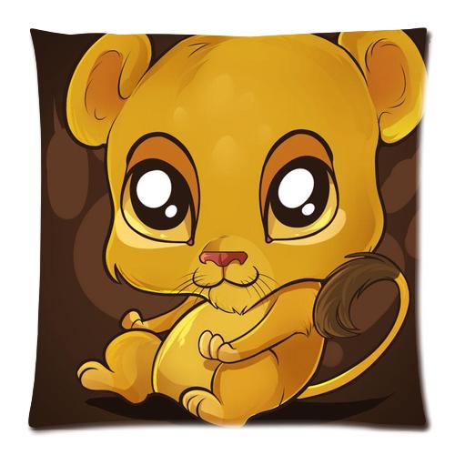 Cute Lion Pillow : Baby Cute Lion Pillow Case Custom Zippered Pillow Case 18