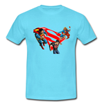Superman  Fighting Custom Classic Men T-shirt Custom Men's Classic T-Shirt Model T16
