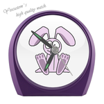 Purple Cute Rabbit Small Alarm Clock cartoon corbies Elegant Small Alarm Clock