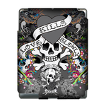 Grey Ed Hardy Kills  Ipad 3 Skin Skin for Custom IPad 3
