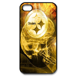 Fire Pittsburgh Steelers iphone 4s case Custom Case for iPhone 4,4S  
