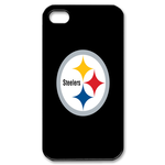 Pure Black Pittsburgh Steelers iphone 4s case Custom Case for iPhone 4,4S