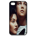 Romantic Rose and Jack iphone 4s case Custom Case for iPhone 4,4S  