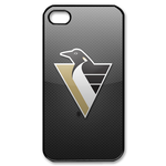 Attractive Pittsburgh Penguins iphone 4s case Custom Case for iPhone 4,4S  